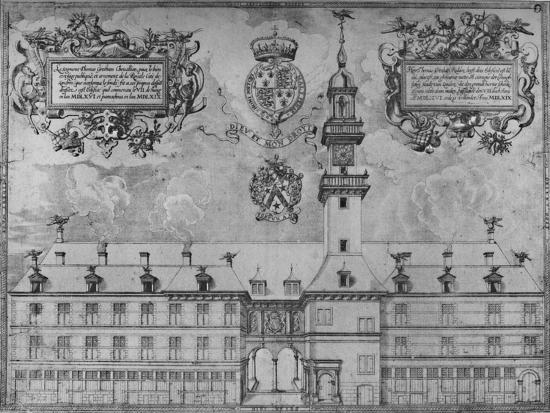'The First Royal Exchange in 1569', c16th century, (1928)-Unknown-Giclee Print