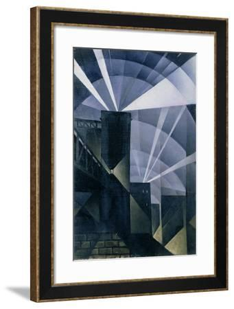The First Searchlights at Charing Cross, 1914-Christopher Richard Wynne Nevinson-Framed Giclee Print