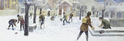 The First Snowfall, from Heart-Edmondo De Amicis-Giclee Print