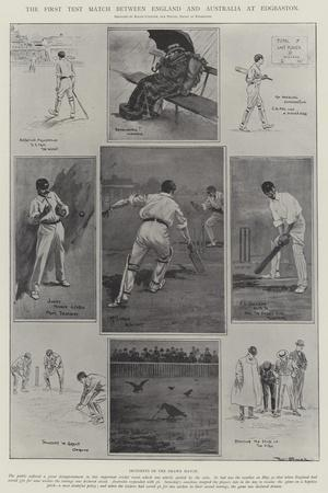 The First Test Match Between England and Australia at Edgbaston-Ralph Cleaver-Giclee Print
