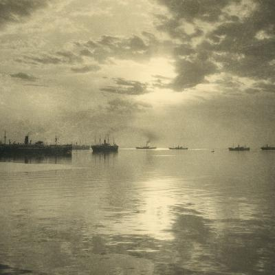 The First Troopships Carrying Australian and New Zealand Soldiers-William Fell-Giclee Print