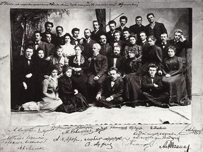 The First Troupe of the Moscow Art Theatre, Russia, 1900--Giclee Print