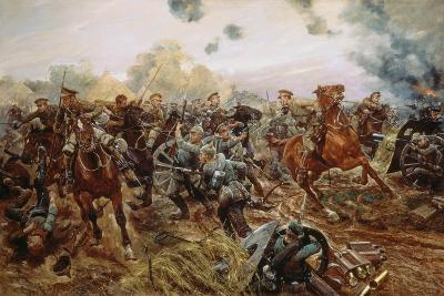 The First VC of the European War, 1914-Richard Caton Woodville II-Giclee Print