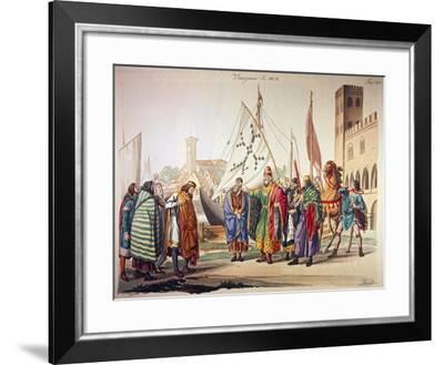 The First Venetian Doges in the 11th Century. Italy, Printing--Framed Giclee Print
