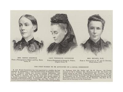 The First Women to Be Appointed to a Royal Commission--Giclee Print