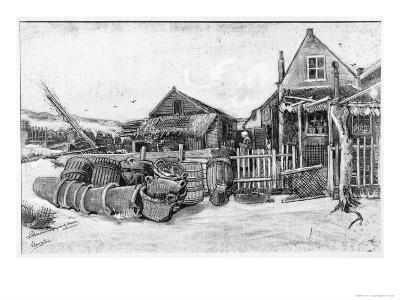 The Fish Drying Barn at Scheveningen, c.1882-Vincent van Gogh-Giclee Print