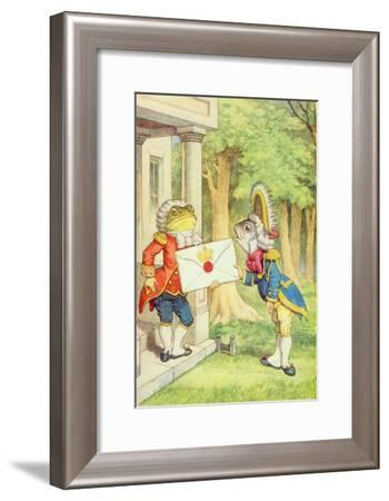 The Fish-Footman Delivering an Invitation to the Duchess, Alice in Wonderland by Lewis Carroll-John Tenniel-Framed Giclee Print