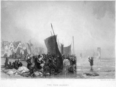 The Fish Market, C1820S-Charles Lewis-Giclee Print