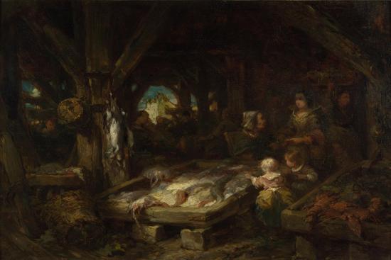 The Fish Market, Dieppe, 1845-Louis Gabriel Eugène Isabey-Giclee Print