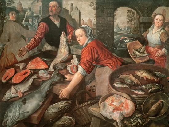 The Fish Market-Joachim Bueckelaer-Giclee Print