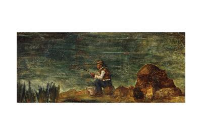 The Fisherman on the Rock; Le Pecheur Au Rocher, 1862-1864-Paul C?zanne-Giclee Print
