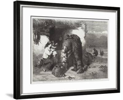 The Fisherman's Return, from the Exhibition of the Society of British Artists--Framed Giclee Print