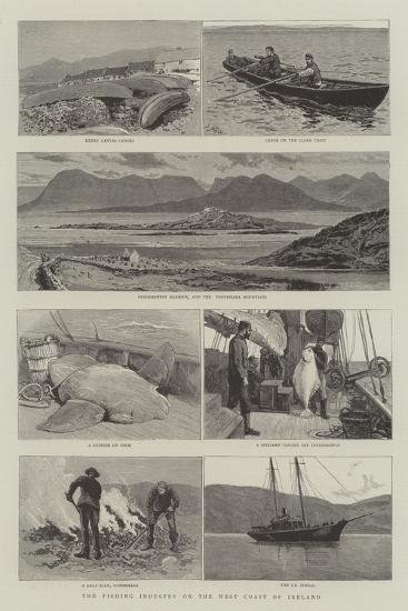 The Fishing Industry on the West Coast of Ireland-Joseph Nash-Giclee Print