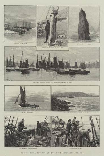 The Fishing Industry on the West Coast of Ireland-Joseph Nash-Giclee Print