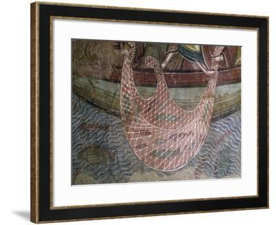 The Fishing-Net, Detail from Christ in Tiberias in Holy Trinity Abbey, Vendome, France--Framed Giclee Print