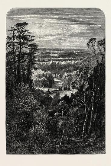 The Fishing Temple, Virginia Water, from the Belvidere, Windsor, UK, 19th Century--Giclee Print