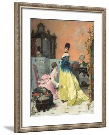 The Fitting-Alfred Emile Stevens-Framed Giclee Print