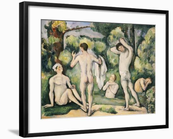 The Five Bathers, circa 1880-82-Paul Cézanne-Framed Giclee Print