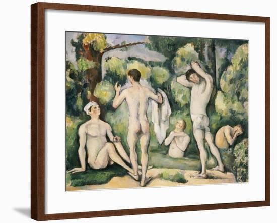 The Five Bathers, circa 1880-82-Paul Cézanne-Framed Giclee Print