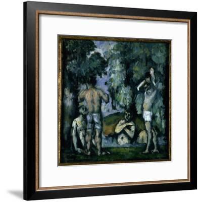 The Five Bathers-Paul Cézanne-Framed Giclee Print