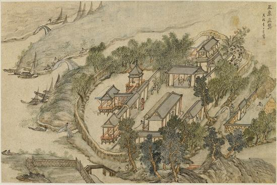 The Five Deer Hermitage, Early 17th C-Li Shida-Giclee Print
