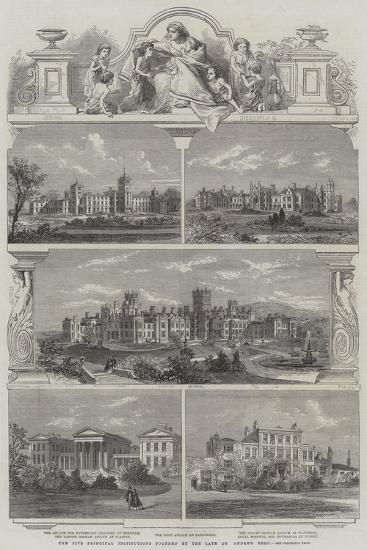 The Five Principal Institutions Founded by the Late Dr Andrew Reed--Giclee Print