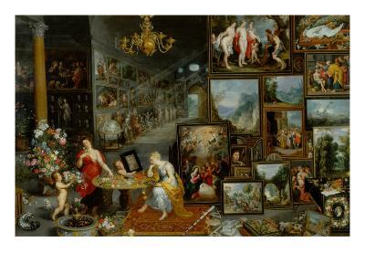 The Five Senses: Sight and Smell-Jan Brueghel the Elder-Giclee Print