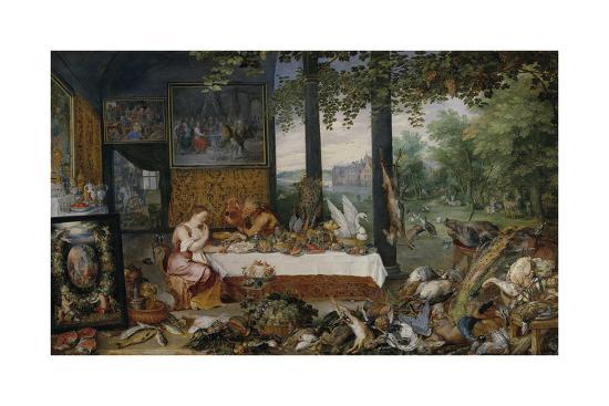 The Five Senses - Taste-Peter Paul Rubens-Premium Giclee Print