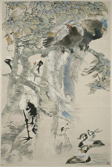 The Five Virtues, Qing Dynasty, 1895-Ren Yi-Giclee Print