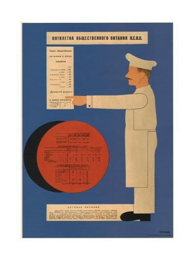 The Five-Year Plan of Public Catering, 1931-Dmitry Anatolyevich Bulanov-Giclee Print