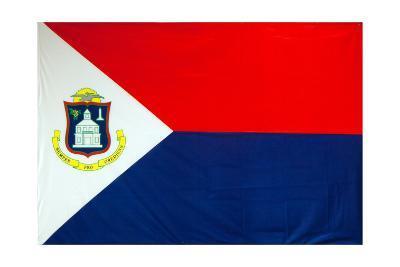 The Flag Of Sint Maarten-Leonard Zhukovsky-Art Print