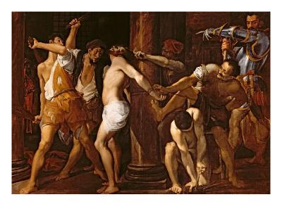 The Flagellation of Christ, 1586-87-Ludovico Carracci-Giclee Print