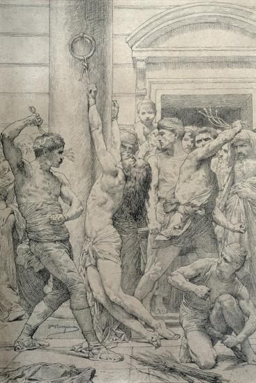 The Flagellation of Christ, C.1881-William Adolphe Bouguereau-Giclee Print