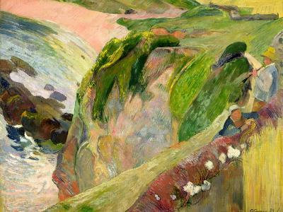 The Flageolet Player on the Cliff, 1889-Paul Gauguin-Giclee Print
