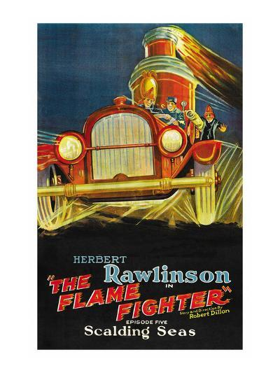 The Flame Fighter; Scalding Seas--Art Print