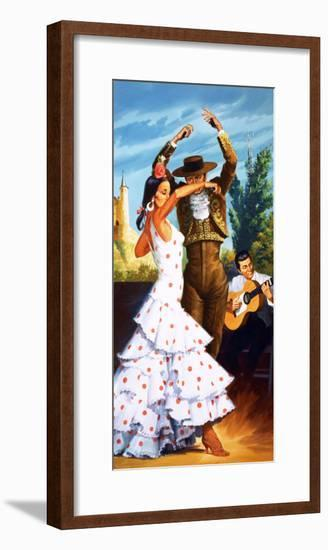 The Flamenco from Spain-Robert Brook-Framed Giclee Print