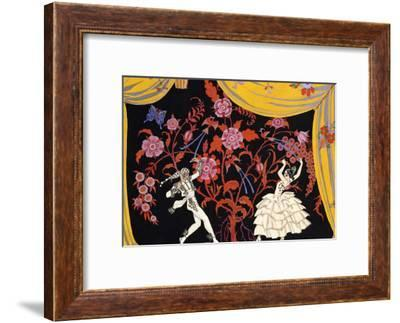 The Flamenco-Georges Barbier-Framed Giclee Print