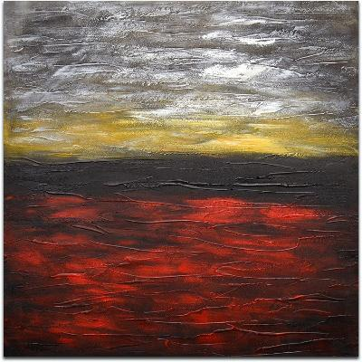The Flaming Sky--Hand Painted Art