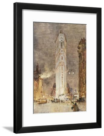 The Flat Iron Building, New York-Colin Campbell Cooper-Framed Giclee Print