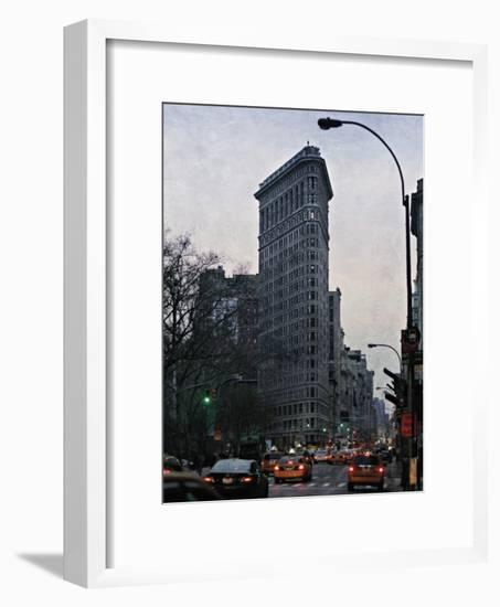 The Flatiron at Dusk-Pete Kelly-Framed Giclee Print