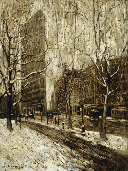 The Flatiron Building, New York-Ernest		 Lawson-Giclee Print