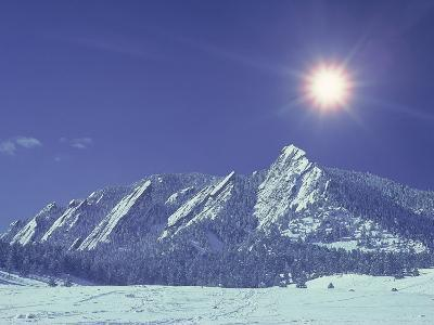 The Flatirons Near Boulder, CO, Winter-Chris Rogers-Photographic Print