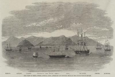 The Fleet in China under Admiral Jones Assembled Off Kintang Prior to the Occupation of Chusan--Giclee Print