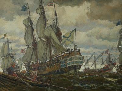The Fleet of Peter I, 1909-Evgeny Evgenyevich Lanceray-Giclee Print