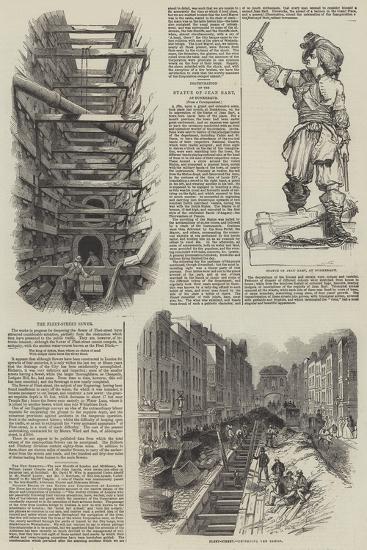 The Fleet Street Sewer--Giclee Print