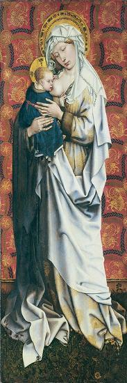 The Flémalle Panels: Virgin Suckling the Child-Robert Campin-Giclee Print