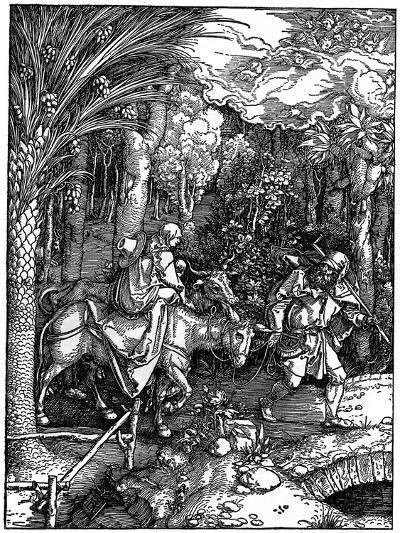 The Flight into Egypt, 1502-1505-Albrecht Durer-Giclee Print