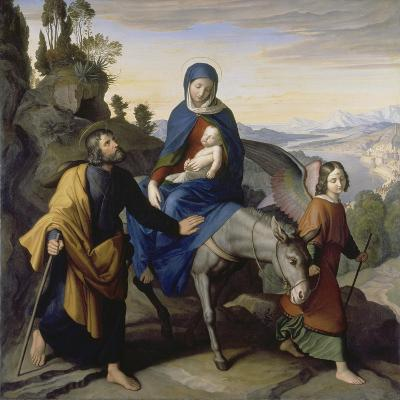 The Flight into Egypt, 1828-Julius Schnorr von Carolsfeld-Giclee Print