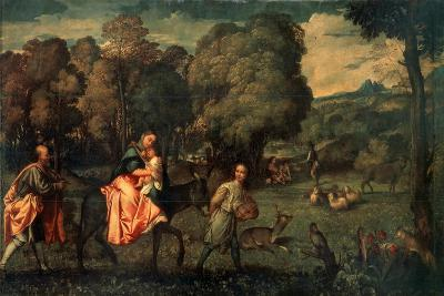 The Flight into Egypt, C1508-Titian (Tiziano Vecelli)-Giclee Print