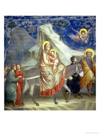 The Flight into Egypt, circa 1305-Giotto di Bondone-Giclee Print